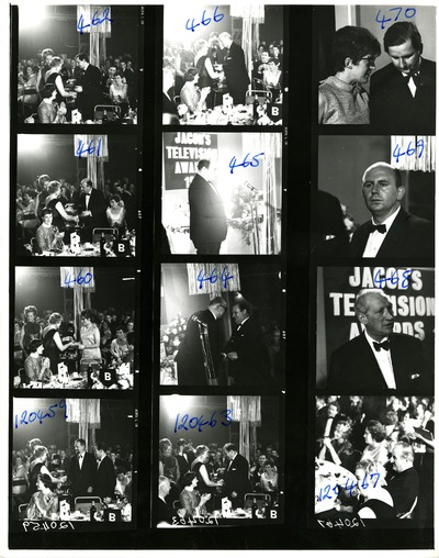 Contact sheet of the Jacob's Awards ceremony