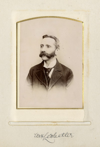 Portrait photograph of W. H. [Ledbetter]