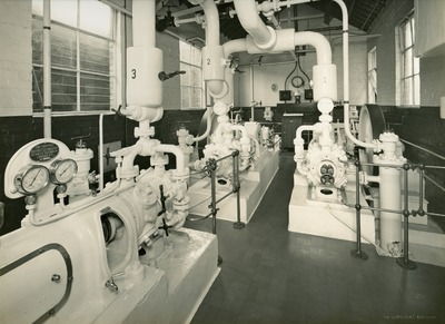 Refrigerator machinery in the Jacob's Factory in Aintree