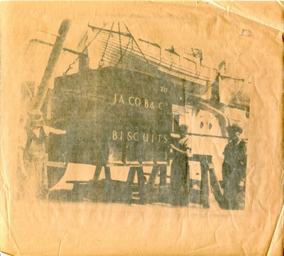 Jacob & Co. crate being transported from or onto a ship