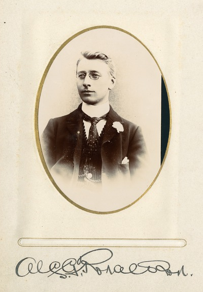 Portrait photograph of Jacob's worker [Alfred G. Ronaldson]