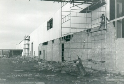 Wall of building at Tallaght site