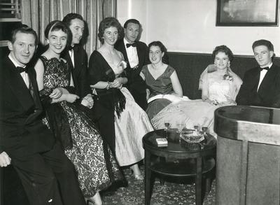 Group attending a dress dance