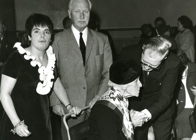 Anne Jane Smith at the pensioners' party
