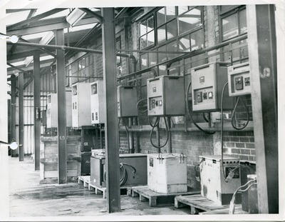 Chargers at the Lucas Industries factory in Birmingham