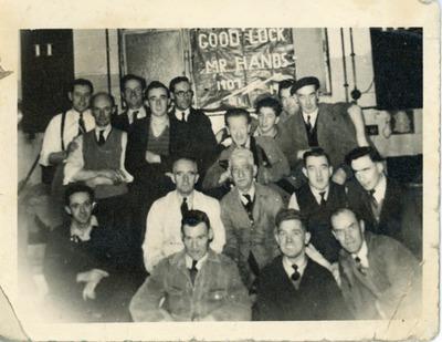 Retirement party of Jacob's worker S. Hands
