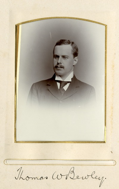 Portrait photograph of Thomas W. Bewley