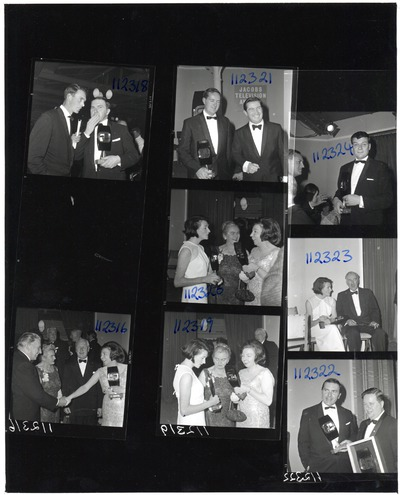 Contact sheet of winners of the Jacob's Award