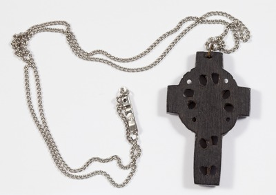 Celtic cross on silver chain