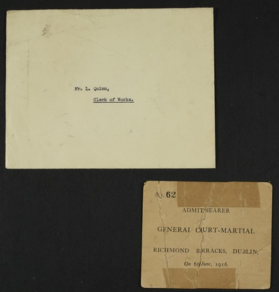 Court-Martial Invitation Card