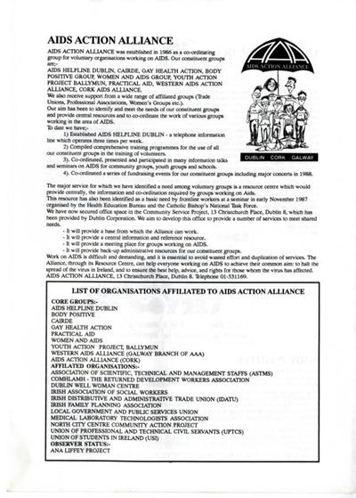 AIDS Action Alliance Newsletter