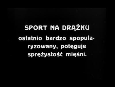 Sport na drążku