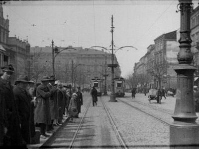 Stare Miasto w Krakowie. Jazda tramwajem