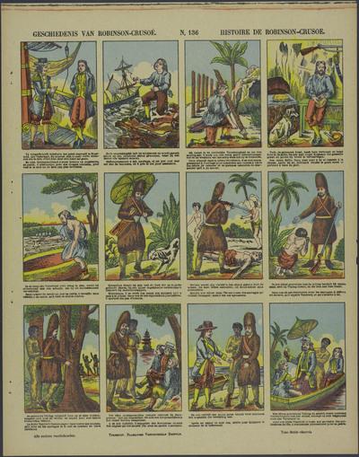 Geschiedenis van Robinson-Crusoe