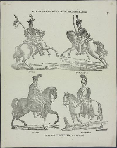 Kavalleristen der Koninklijke Nederlandsche Armee