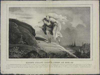 Edmond draagt Calista tegen de rots op