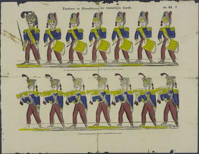 Tamboers en hoornblazers der koninklijke garde