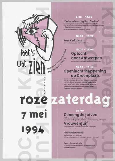 Roze Zaterdag, Antwerpen, 7 mei 1994