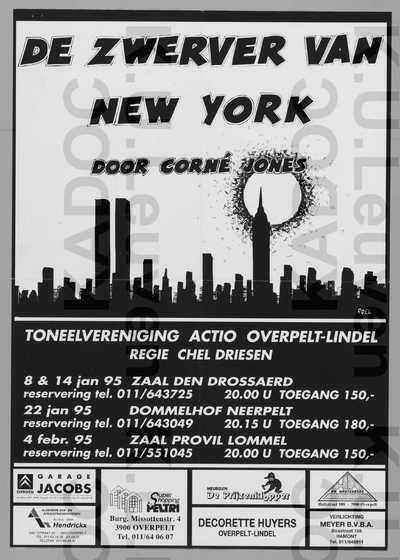 Toneelvereniging Actio, opvoering van 'De zwerver van New York', Neerpelt, 8-14 en 22 januari en Lommel, 4 februari 1995