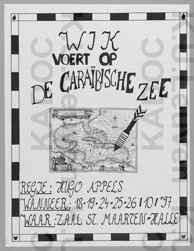 Toneelgroep WJK, opvoering van 'De Caraïbische Zee', Halle, 18-26 oktober 1997