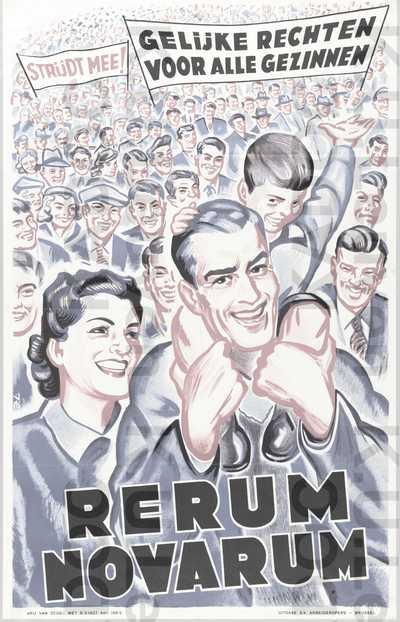 ACW, Rerum-novarumviering 'Gelijke rechten voor alle gezinnen', 19 mei 1955 : aankondiging
