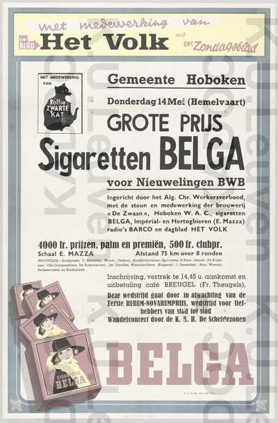 ACW, Hoboken, Rerum-novarumprijs, wielerwedstrijd, Hoboken, 14 mei 1953 : aankondiging van de Grote Prijs voor Nieuwelingen
