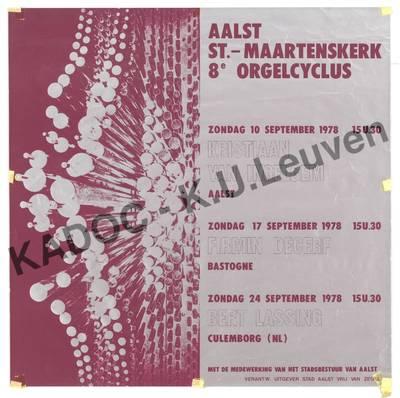 Sint-Maartenskerk, Aalst, orgelcyclus, 8ste, 10-24 september 1978 : aankondiging van het programma
