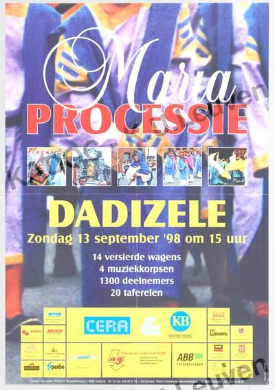 Mariaprocessie, Dadizele, 13 september 1998 : aankondiging