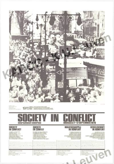 Internationaal congres 'Society in conflict', Brussel, 7-12 september 1970 : aankondiging