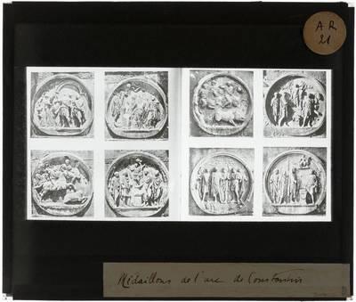 Arco di Costantino. Acht medaillons van Hadrianus