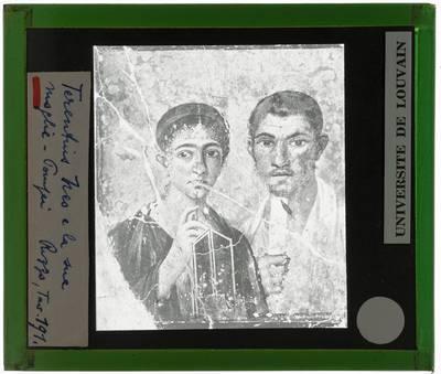 Pompei. Casi di Terentius Neo :Portret van Paquius Proculus en zijn vrouw