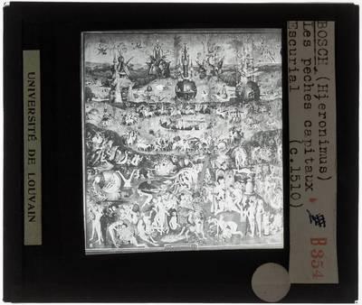 Hieronymus Bosch. Triptiek Tuin der lusten :Centraal paneel