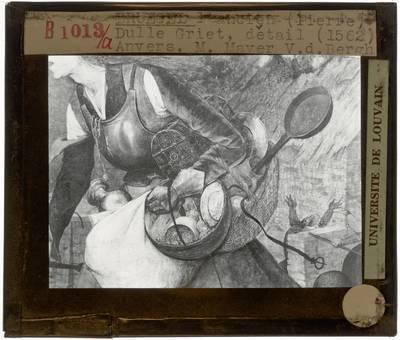 Pieter Brueghel de Oude. Dulle Griet :Detail: Manden van de Dulle Griet