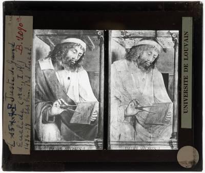 Joos van Wassenhove (toegeschreven). Geïllustreerde mannen :Euclides van Alexandrië