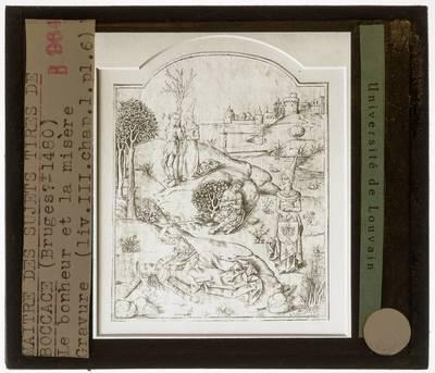 Meester van de Boccaccio illustraties. Geluk en Ellende