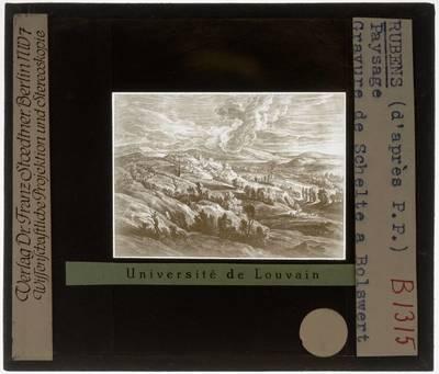 Peter Paul Rubens (naar). Schelte Adamsz. Bolswert (door). Landschap