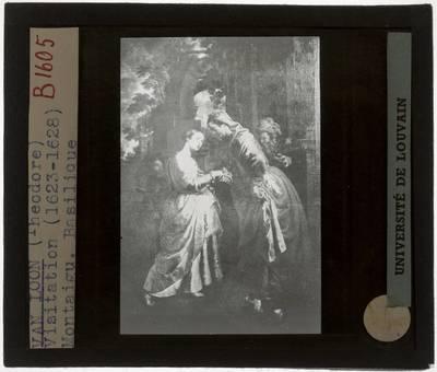Theodoor van Loon. Maria bezoekt haar nicht Elisabeth