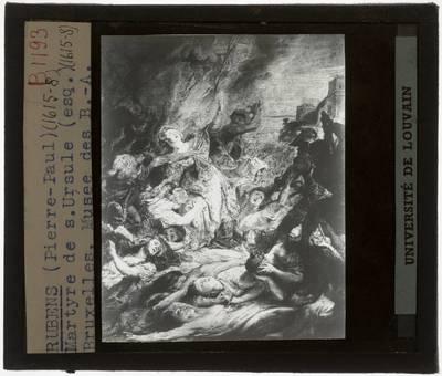 Pieter Paul Rubens. De marteling van de heilige Ursula :Olieverfschets