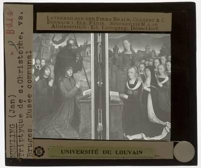 Hans Memling. Moreel-triptiek :Zijpanelen