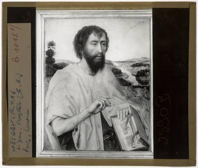 Rogier van der Weyden. Triptiek van de familie Braque :Paneel links: Johannes de doper