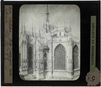 Milano. Basilica Cattedrale Metropolitana di Santa Maria Nascente :Exterieur: Oostgevel, zicht op chevet