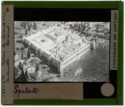 Split. Dioklecijanova palača :Reconstructie gezien van bovenaf
