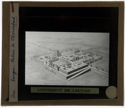 Dur-Sharrukin. Paleis van Sargon :Reconstructietekening