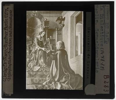 Joos van Wassenhove (en atelier?). Zeven vrije kunsten. Dialectica of logica