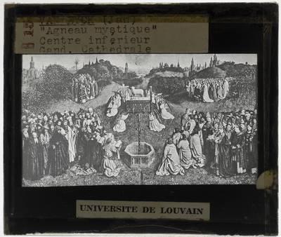 Jan van Eyck. Hubert van Eyck. Lam Gods :Open: Aanbidding van het Lam