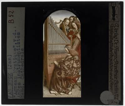 Jan van Eyck. Hubert van Eyck. Lam Gods :Open: Musicerende engelen