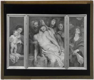 Pieter Paul Rubens. Triptiek met de Graflegging