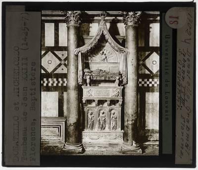 Donatello. Michelozzo. Grafmonument tegenpaus Johannes XXIII