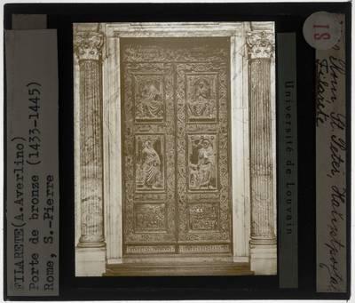 Filarete. Twee bronzen deuren van de Sint-Pietersbasiliek