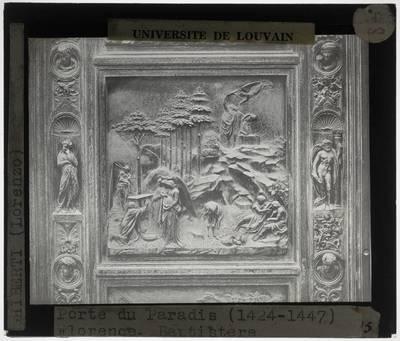 Lorenzo Ghiberti. Porta del Paradiso :Detail: Abraham en Izaäk